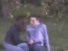 Amateur couple hj on park