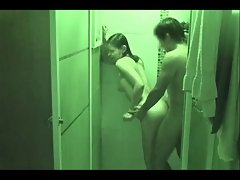 Teen girl and her boyfriend having sex in the shower!!