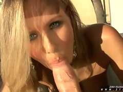 Hard cock working MILF Julia Ann blowing hard stud