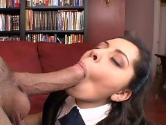 Amber Sky is a hot schoolgirl who loves blowing long meaty cocks