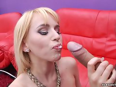 Sizzling Aleksa Diamond gets her face drenched with cum