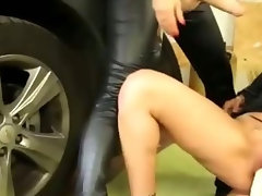 Three sexy horny lesbians in hot bukkake toy action