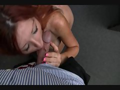 Redhead Soccer mom does audition
