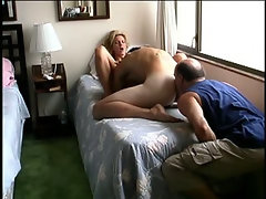 I rim a Str8 Marine as he eats and then fucks a blond babe's pussy.