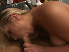 Babe Alanah Rae gets her tongue cramped from blowing this cock