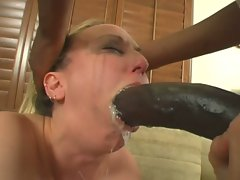 Sexy bitch Zoe Matthews gobbles his big prick all the way down her throat