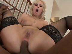 Tara Lynn offers up her asshole to a black stud to shove his cock in it