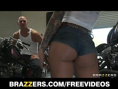 Horny big-booty biker chick Christy Mack takes big-dick