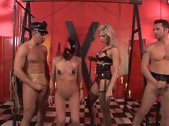 Hot dominatrix Regina Ice takes the lead with her slave
