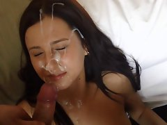 amateur huge facials compilation