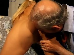 grandpa gets blonde with pigtails