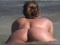 Brick House Butt Naked at the Beach