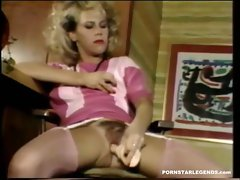 Bunny bleu fucks her hairy vintage pussy