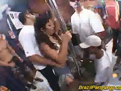 Hardcore group sex during nasty brazilian party