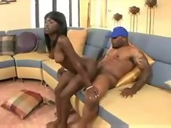 Fit and sexy black girl laid by her black lover