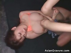 Big melons perfect asian ginger getting her part5