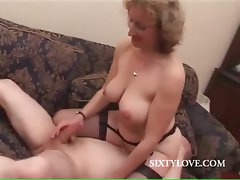 Blond mamma loves to ride penis