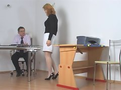 Raunchy student getting punished by teacher