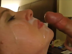 Lewd Facial cumshot Pop-shot For The Blonde Better half
