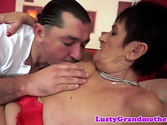 Bigass grandma orally pleasured and banged