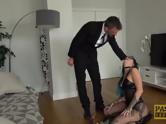 Inked seductress Alexxa Vice submits to wild anus hammering